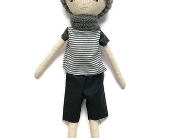 Lenny Doll, Boy Doll, Cloth Doll, Hand Made, 45cm
