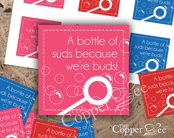 Gift Favor Tags - Bubbles and Suds