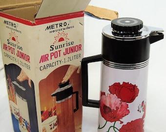 Vintage Metro Housewares Air Pot Junior, Poppy Design