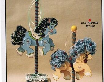 New Vintage Workshoppe Originals Carousel Fantasy door stop and CenterPiece copyright 1994