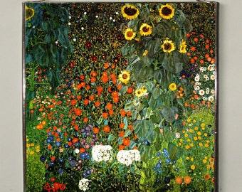 Gustav Klimt - The Sunflower, Stained Glass, Vacation until 18. September