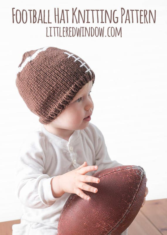 Knit Pattern Baby Football Hat : Football Baby Hat KNITTING PATTERN -knit hat pattern for babies, kids, adults...