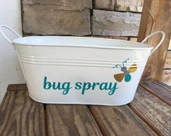 Bug Spray Storage; Bug Spray  Bucket; Home Storage Bucket; Storage bucket