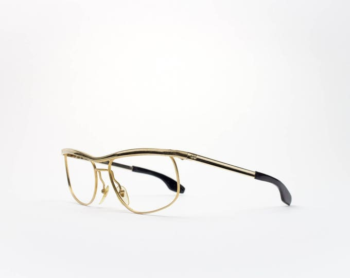 60s Vintage Eyeglasses | Retro 1960s Glasses | Gold Eyeglass Frame