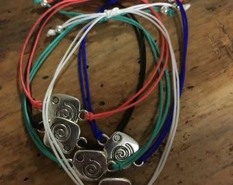Swirl Charm String Bracelet