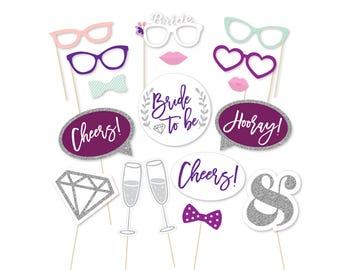 Bridal Shower Photo Booth Props, Bachelorette Party Photo Booth Props, Wedding Shower Props, Selfie Props, Photobooth Props, Printable Props