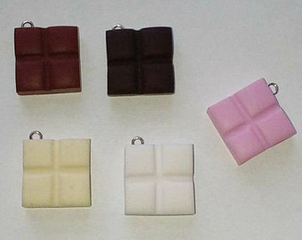 X 1 piece of chocolate fimo