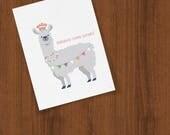 Congratu-Llama-Lations Congratulations Llama Folded Cards