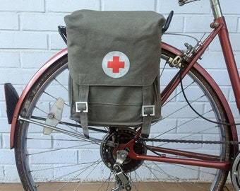 25% OFF Slovakian Military Surplus Medic Bag Vintage Bicycle Pannier 1970's