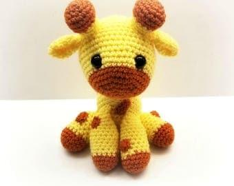 Crochet Sitting Baby Giraffe