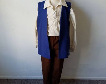 Child Pirate Outfit - 3 Color Combos - Pirate, Captain Hook, Jack Sparrow, Cosplay, LARP, Kids, Girls and Boys, Costume