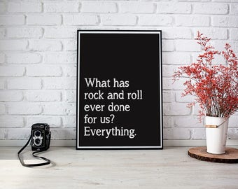 PRINT - What has rock and roll ever done for us?