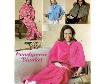Women's Comfywear Blanket, Lounge Wrap, Snugly Blanket Wrap Sewing Pattern, One Size, UNCUT Butterick B5536