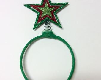 Christmas star headband, christmas tree topper headband, christmas star, christmas headband, star headband, tacky christmas sweater