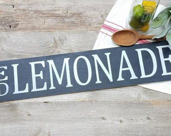 Lemonade Sign - Ice Cold Lemonade - Summer Decor - Summer Signs - Lemonade Signs - Lemon Decor - Lemon Signs - Farmhouse Decor - Lemonade