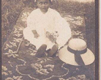 Vintage photograph of a sweet toddler girl