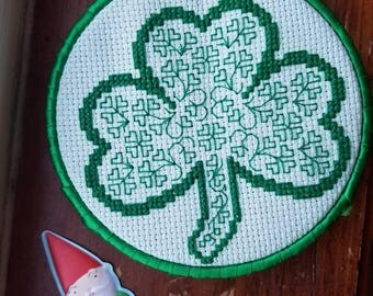 Shamrock | Clover | St. Patrick's | Luck of the Irish | Cross-Stitch | Embroidery