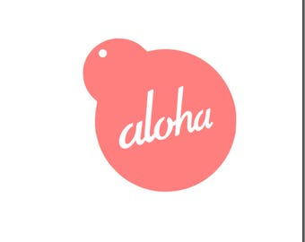 Aloha Cookie Stencil, Aloha Cookies, Hawaiian Cookie Stencil, Luau Cookie Stencil, Luau Cookies, Hawaiian Cookies, Aloha Cake Stencil