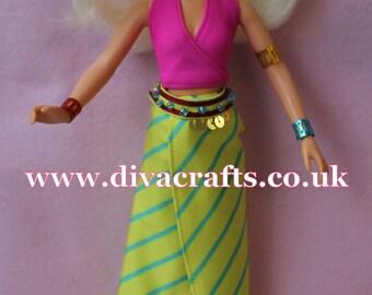 Handmade by Cazjar Jem and the Holograms Hasbro Doll Fashion Roxy Gypsy Look + Jewellery & Shoes