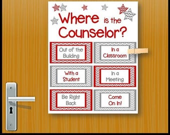Where is the Counselor Sign, School Counselor Decor, School Counselor Door Sign,  School Counseling Poster, Counselor Appreciation Gift