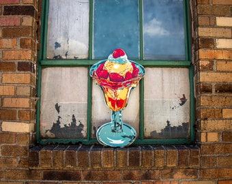 Ice Cream Tin Sign Vintage Ice Cream Parlor Wall Decor