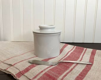 Stoneware Butter Bell, Vintage Butter Pot, French Style Butter Storage, Butter Pottery Jar, Beurre Dish, Soft Butter Keeper, Butter Crock