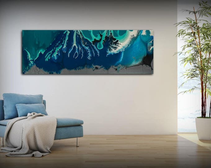 Abstract Canvas Wall Art Abstract Art Print Abstract Canvas Art Prints Abstract Wall Art Large Abstract Canvas Abstract Modern Art Blue Art