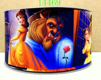 "1.5"" PRINCESS BELLE grosgrain ribbon Absolutely fabulous!, Gorgeous! Stunning! Epic ribbon! Beauty and the Beast"