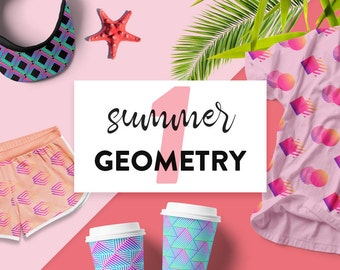 Summer Geometry part 1 // Vector Geometric Shapes // Geometric Cliparts // Geometric Logo Design // Commercial Use // Instant Download