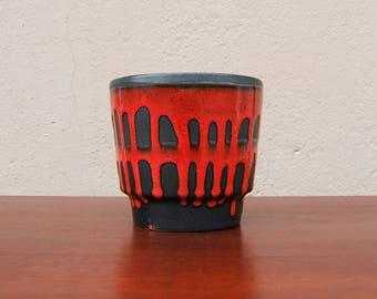 Planter / Plant Pot by Fohr - West German Pottery - Fat Lava - Mid Century Modern - Vintage 60s 70s