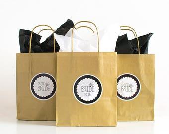 Gold Hen Party Bags / Hen Gift Bags/ Team Bride Bags / Hen Do Favour Bags