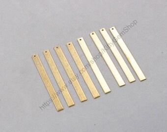 10Pcs, 55mm Raw Brass Slice Pendants Charms Wholesale Handmade Craft Supplies ZR-7724