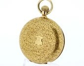 18K Yellow Gold Tiffany and CO Pocket Watch Skeleton Dust Cover