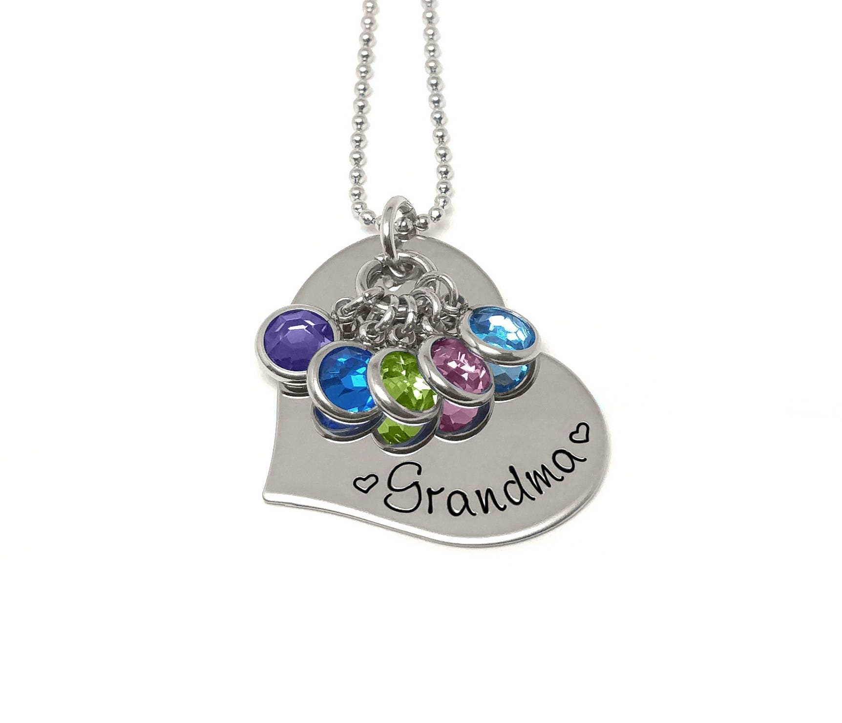 Personalized necklace grandma necklace mother 39 s day for Grandmother jewelry you can add to