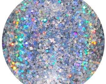 Billionaire Status Body Glitter Pot, Silver Body Glitter, Silver Holographic Body Glitter, Body Glitter, Body Glitter, Chunky Body Glitter