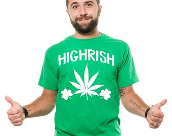 St Patrick's Day T-Shirt Funny Irish St Patty Day Green Marijuana Weed Cannabis Tee Shirt