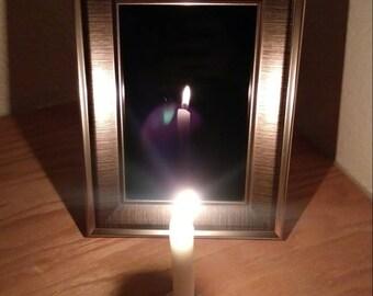 Seer's Gaze Scrying Mirror - Elegant Black Mirror for Divination