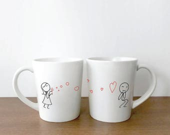 Couple Mugs, His and Hers Mugs, Valentines Mug for Him, Fiance Gift for Him, Boyfriend Gift, Husband Gift Valentines Day, BoldLoft Mugs
