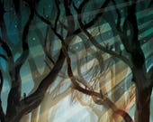 Over The Garden Wall Lithograph Art Print by Adam Fisher