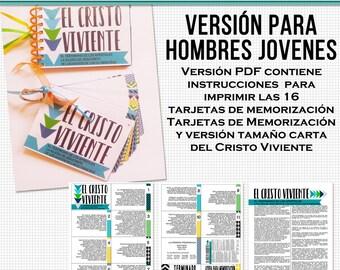 El Cristo Viviente-Tarjetas de Memorización Imprimibles   The Living Christ flash card printables in Spanish