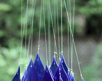 Recycled Beer Bottle Raindrops Wind Chime