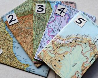 Passport holder, Passport Cover, Vintage Upcycled Map, Jetsetter Travel Gift OOAK