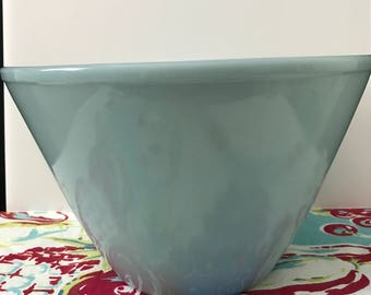 Fire King Oven Ware Splash Proof Large Mixing Bowl in Turquoise