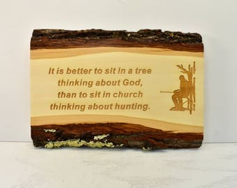 Sit in Tree Bark Edge Sign