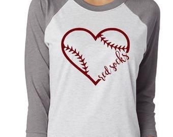 Baseball Heart with Team Name
