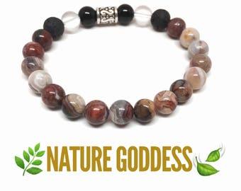 NATURE GODDESS Mexican Laguna Jasper Aromatherapy Diffuser Bracelet
