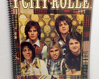 Bay City Rollers Album Cover Notebook Handmade Spiral Journal