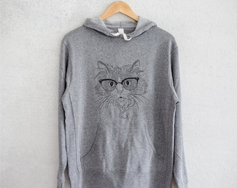 Daniel the Ragdoll Cat - Grey French Terry - Unisex Slim Fit - Cat Lover, Gifts for Cat Owner