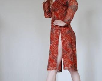 Ethnic Kaftan Moroccan Dress Hippie Bohemian Dress Flower Paisley Top 60s Vintage Tunic Kaftan Blouse Festival Clothing Beach Wear