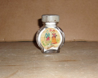 Vintage Little Powder Jar, Gardenia